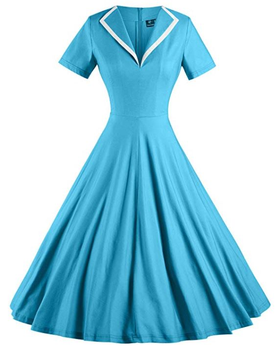 Pin-up style dress from the 50's