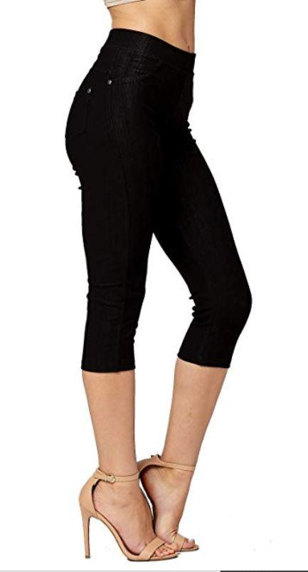 Black retro capri pants