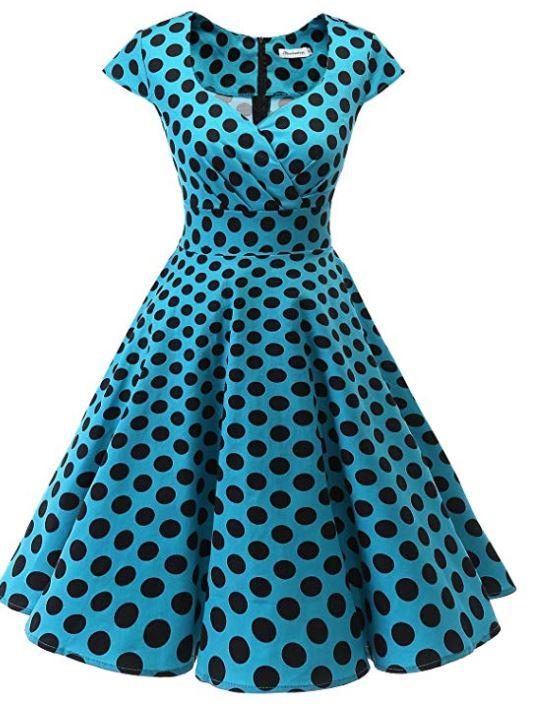 Short 1950s Retro Vintage Cocktail Party Swing Dresses