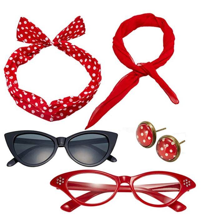 Rockabilly accessories set in Red