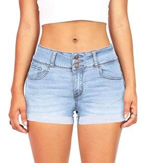Rockabilly shorts in washed denim