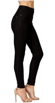 Skinny jeans retro styling in Black