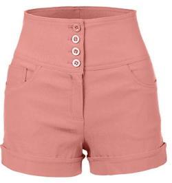 Rockabilly girls shorts in Pink