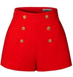 Rockabilly Retro girls shorts in Red