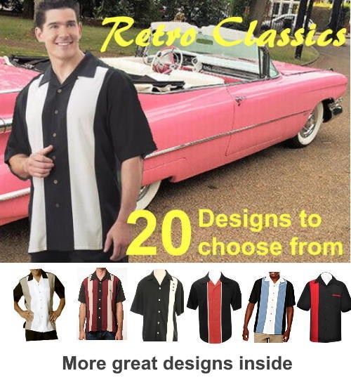 Rockabilly Retro shirts for men